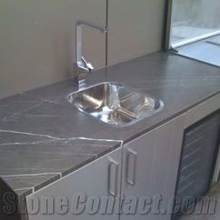 Best Material For Kitchen Countertops Faucet With Soap Dispenser Iran Marble Pietra Grey Countertop, Pietro ...