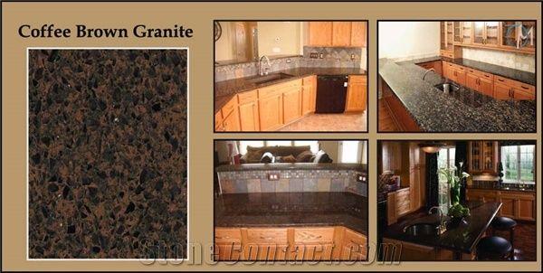 kitchen granite countertops slab cabinets coffee brown countertop from united kingdom-237897 ...