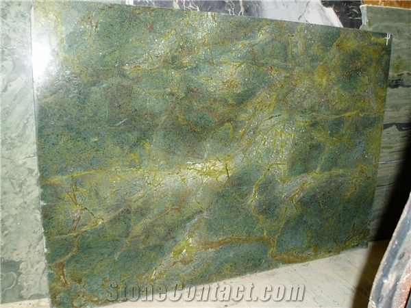 Golden Lightning Granite Slabs Brazil Green Granite from