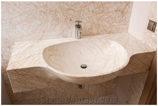 golden spider marble solid vanity top