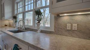 5cm Honed White Carrara Marble Eased Kitchen Countertop