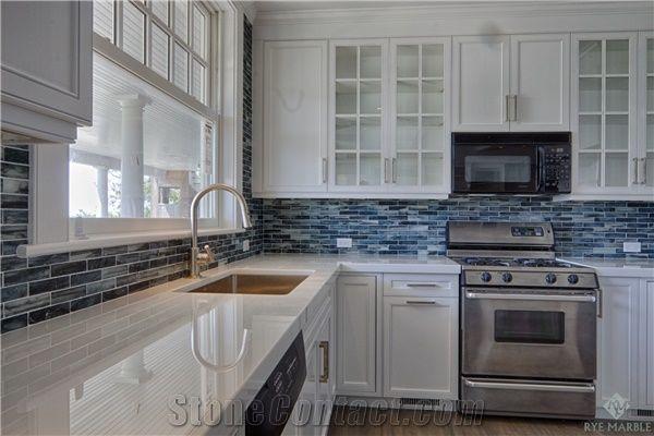 Nano Glass Stone Staff Kitchen Countertop Glass Mosaic Backsplash from United States