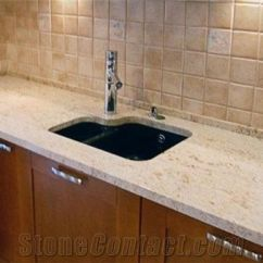 Best Material For Kitchen Sink Wine Rugs Colonial Cream Granite Countertop, Yellow ...