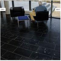 Kilkenny Black Fossil Floor Tiles, Limestone from Ireland