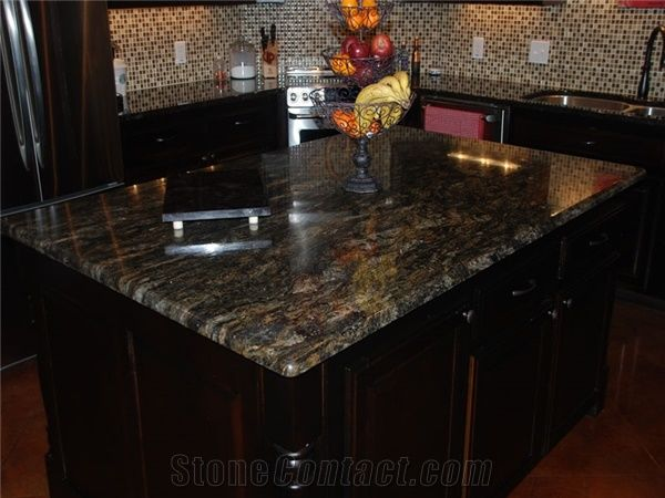 Exotic Brazil Granite Countertop Magma Gold Granite Countertop from United States