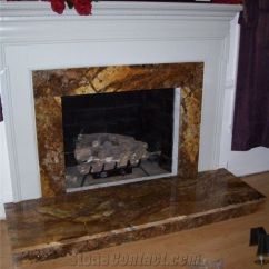 Ceramic Tile Kitchen Seating Ideas Fireplace In Magma Gold Granite From United States ...
