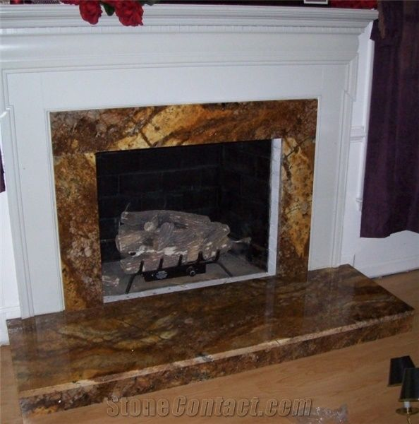 ceramic countertops kitchen farmhouse hardware fireplace in magma gold granite from united states ...