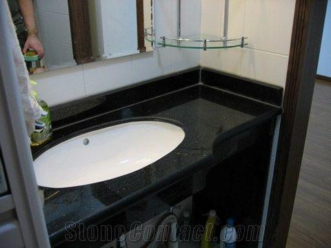Black Galaxy Bathroom Vanity Tops Galaxy Black Granite Bathroom Vanity Tops From China Stonecontact Com