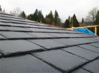 Black Slate Roof Tiles from Canada-216187 - StoneContact.com