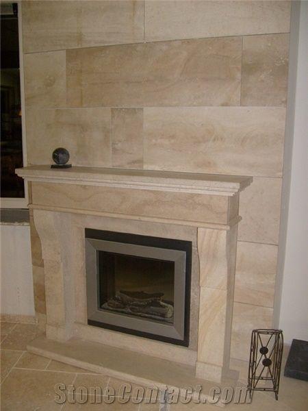 Fireplace In Beauvillon French Limestone Beauvillon Beige Limestone Fireplace From Netherlands