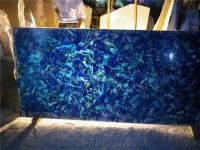Translucent Blue Onyx Panel from China