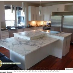 Kitchen Island Top Nice Knives Arabescato Cervaiole Marble White