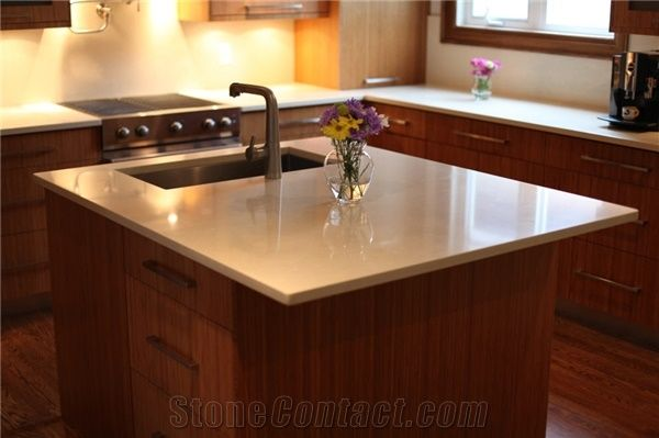 Solid Surface Kitchen Island Countertop from Canada  StoneContactcom