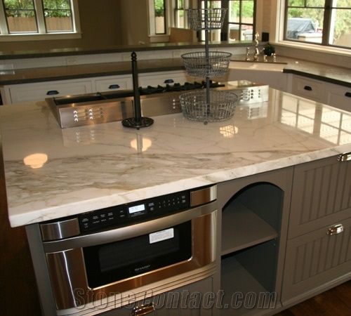 best countertops for kitchens what is the kitchen faucet calacatta gold marble countertop from united ...