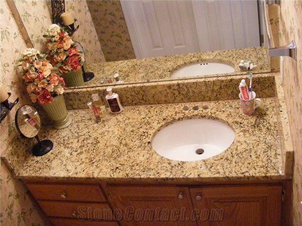 Giallo Santa Cecilia Granite Bathroom Top from United