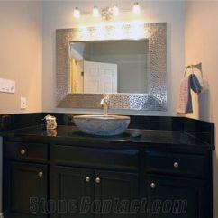 Black Kitchen Countertops Cooktops Absolute Granite Bathroom Countertop From Canada ...