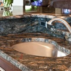 Best Material For Kitchen Countertops Table Small Space Golden Cosmos Granite From Canada ...