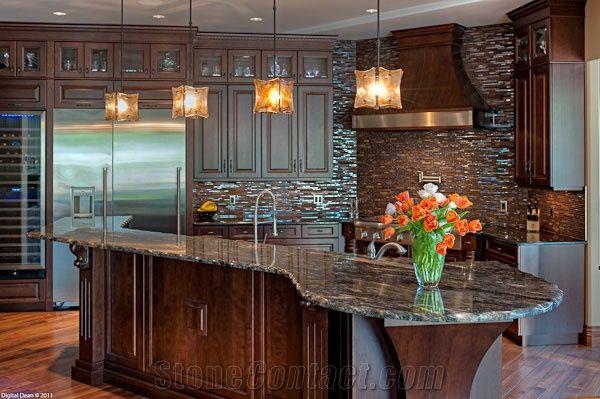 Golden Cosmos Granite Kitchen Countertops from Canada