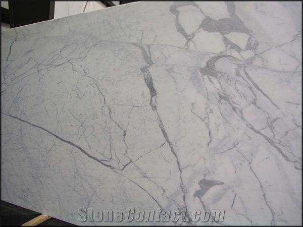 Statuary Vein White Marble Kitchen Countertops from China  StoneContactcom