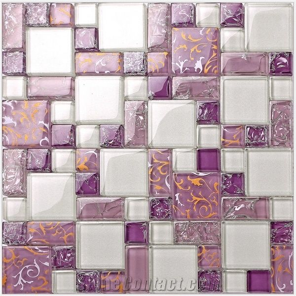 onyx kitchen backsplash table with high chairs purple glass mosaic pattern tiles for bathroom wall from ...