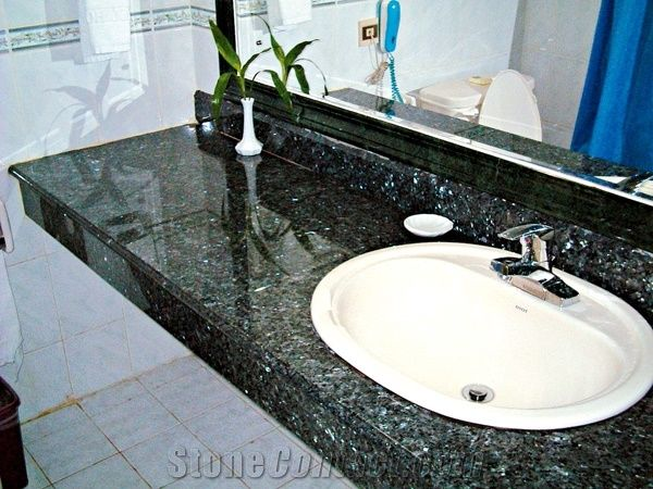 Labrador Blue Pearl Granite Bathroom Top from China