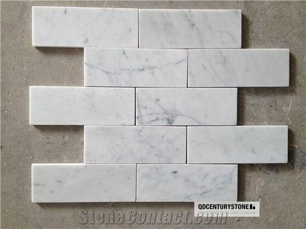 italian carrara white 2x8 inches subway