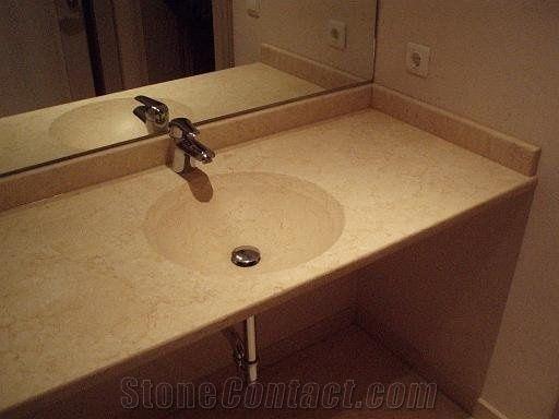 Sunny Yellow Marble Bathroom Vanity Top From Austria Stonecontact Com