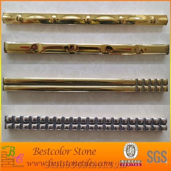 gold silver ceramic listello golden
