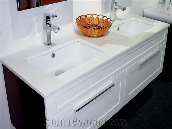 best material for kitchen sink floor mats walmart pure white crystallized glass vanity top from china ...