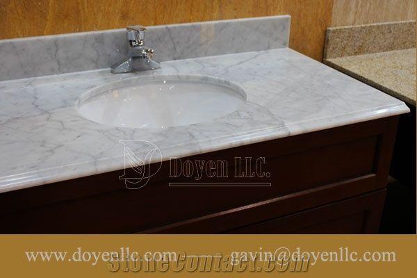 White Carrera Marble Bathroom Vanity Top - Bathroom Furniture Ideas