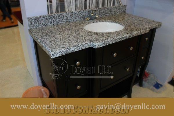 Luna Pearl G439 China Grey Granite Bathroom Vanity Top Wt Ceramic Sink