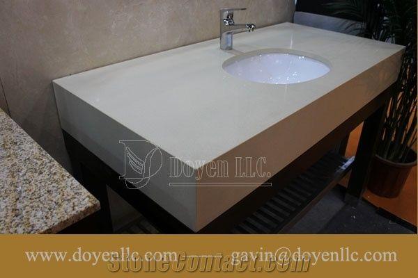 pure white quartz bathroom vanity tops