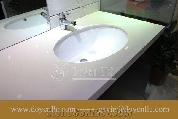 Sgs Ce Iaf Cnas Quartz Athens White Quartz Bathroom Vanity Top Xiamen Ouming Import Export Co Ltd