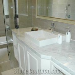 Best Kitchen Countertops Ventilation Hood White Marble Bathroom From China-249882 ...
