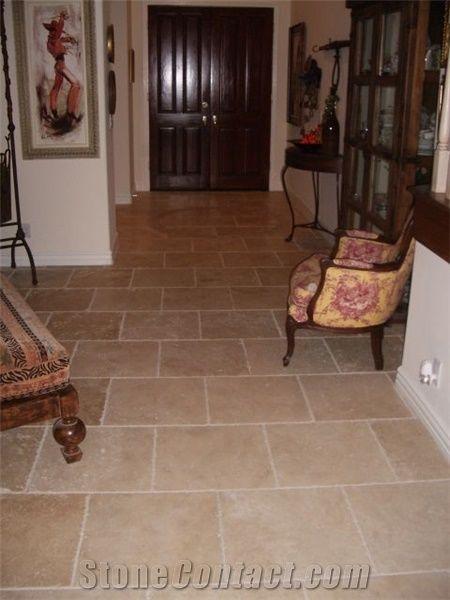 travertine 16x16 chiseled edge floor