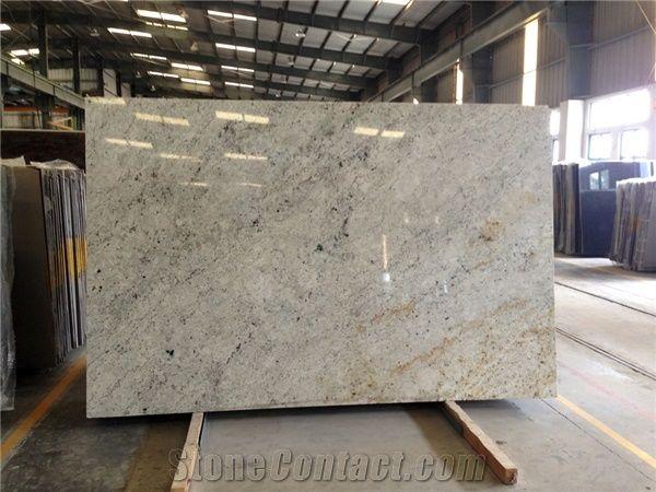 Colonial White Granite Slabs Tiles Ivory Cream White