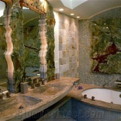 Best Material For Kitchen Countertops Wine Rack Back-lit Multicolor Green Onyx Slabs Glass Mosaic Bathroom ...