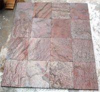 Copper Slate Slabs Tiles, India Brown Slate-273847 ...