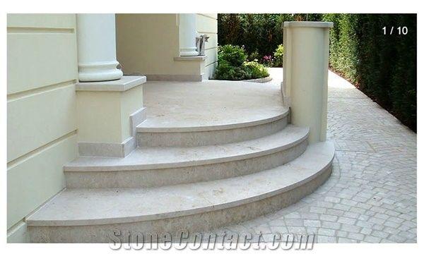 Jura Marmor Entrance Steps and Stairs Jura Beige Limestone Stairs from Austria  StoneContactcom