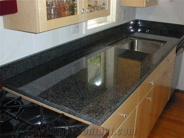 giga black diamond granite kitchen