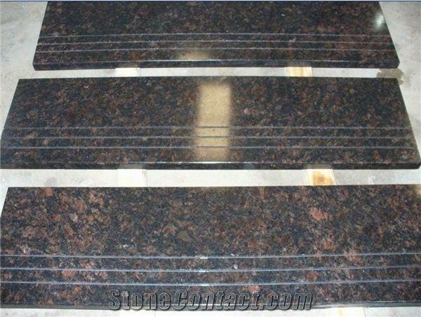 Tan Brown Granite Stairs StepsIndia Brown Polished