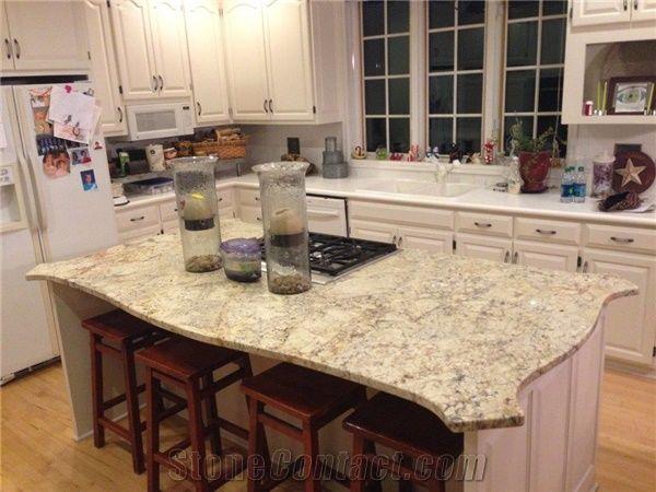 Absolute Cream Granite Kitchen Island Top Beige Granite