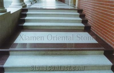 China Grey Granite Outdoor Steps Staircase With Anti Slide Indoor | Outdoor Stone Stair Treads | Deck | Curved | Backyard | Unique | Stone Veneer