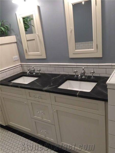 Superior Black Sea Soapstone Bathroom Counter From United States