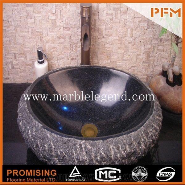 various round shaped stone china black