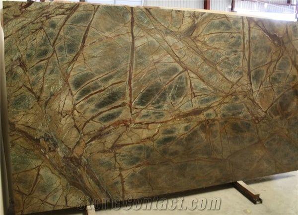 rain forest green marble slabs green