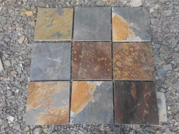 cheap rusty slate tiles slabs paving