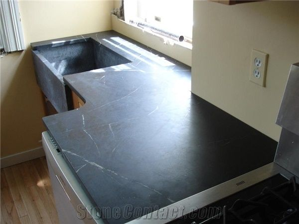 soapstone kitchen countertop top with farm sink from united states