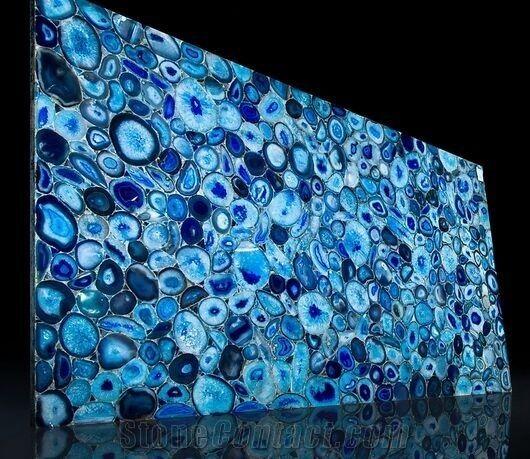 Blue Onyx Tile Slabs Blue Onye Tile Onyx From China