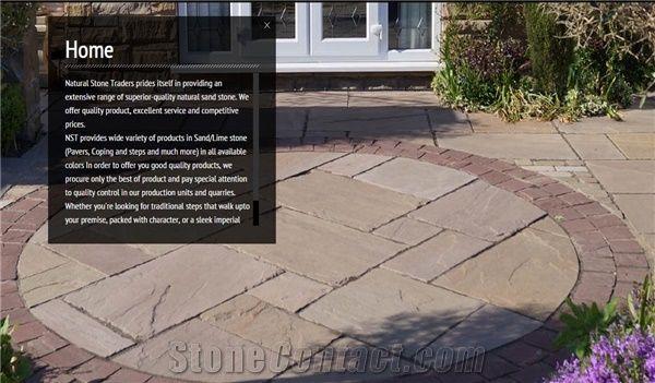 modak sandstone patio circle pavement